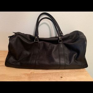 Other - Genuine Leather Duffle Bag Duel Zippier Travel Big